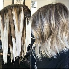 #StarKnotBalayage - #ColorMelt + #LowlightStraddle = Seashell Swirl (see previous post for formulas and application! #ashleenormanhair #balayaged #hairporn #wellahair #wellalife #mastersofbalayage #behindthechair