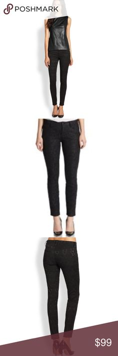 💋NWT GENETIC SHYA BLACK LACE PRINT SKINNY JEANS💋 💋NWT GENETIC SHYA LACE JACQUARD BLACK SKINNY JEANS. $245 AT SAKS. THESE ARE AMAZING AND FIT LIKE A GLOVE! SUPER SEXY & FLATTERING. KNOWN FOR THEIR SUPER COMFORTABLE, SOFT STRETCH FABRIC AND WORTH EVERY PENNY. MID RISE AND AWESOME SKINNY STYLE LOOKS GREAT WITH ANY HEELS AND BOOTIES. ONE OF A KIND LOOK CAN EASILY BE DRESSED UP MORESO THEN ANY JEANS. SIZE 29 WITH A SLIM FIT. GET THE EXACT LOOK ON MODEL AND SEE MY COATED BLACK TOP IN SEPARATE…