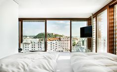Stay in a Prefab Cube Placed Atop a Midcentury Hotel in Austria - Dwell