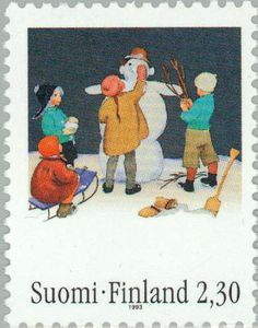 ◇Finland  2011    Boy with snowman