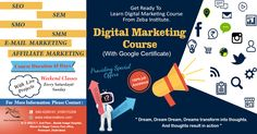 Are you Planning to Learn Digital Marketing Course, with Google Certification, Zeba Institute Providing Special Offer, 20%OFF on All Courses, Hurry up!!...:) 100% job Assistance with Live Projects,and internship certificate Also Provides by Company for Eligible Students. http://www.zebacreations.com/register.html