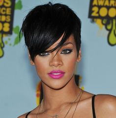 I've been intending this board for lovely faces of both genders, so here's Rihanna.  She is gorgeous, and I love her hair.