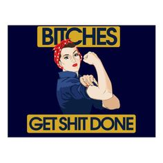 Shop Funny feminist humor postcard created by Vintage_Bubb. Funny Cartoons, Funny Memes, Rosie The Riveter, Work Inspiration, Women In History, Getting Things Done, Erotic Art, Videos Funny, Postcard Size