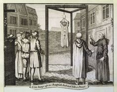 A cat is hanged by protestants in Cheapside, London, to symbolise the Roman Catholic church.*** NOT MEDIEVAL BY DATE BUT .... BLOODY M0RONS!