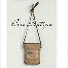 """Up-Cycled Mona B Flag Crossbody *Price is FIRM unless bundled. *Our Flag mini crossbody bag has the American flag stenciled on one side and genuine leather accents on all corners. *Material: Up-cycled truck tarps & military tents + canvas, Genuine leather, antique metal hardware. 22"""" Strap; Zipper top, back zipper pocket. *Texture and material variations are part of the Up-Cycled process. Mona B Bags Crossbody Bags"""