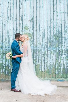 A love filled Millhouse wedding with a hint of glam. Unique Weddings, Real Weddings, Pastel Blue Wedding, Summer Romance, Pretty Pastel, Wedding Couples, Newlyweds, Wedding Styles, Love