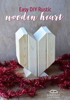 Easy DIY Rustic Wooden Heart