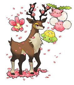 Sawsbuck and friends... Spring