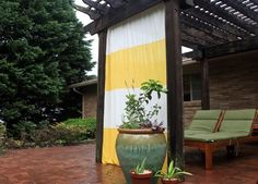 como hacer cortinas para exterior