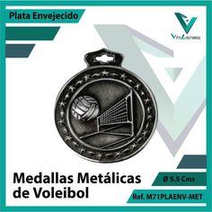 Entregamos sus Medallas en Medellin a Domicilio o Despachamos a Todo el Pais. Ref. M71PLAENV-MET Ø 6cms. Su Cotización en 20 Min. Sin Compromiso 20 Min, Bracelet Watch, Metal, Accessories, Licence Plates, Volleyball, Basketball, Bronze, Engagement