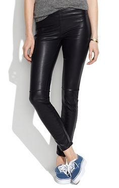 Madewell vegan leather leggings. Plan to live in these this fall...