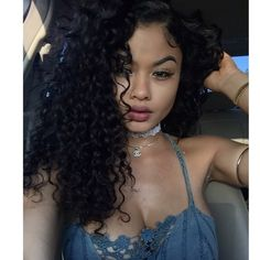 Curly Deep Parting Lace Front Human Hair Wigs Pre Plucked Natural Hairline Full Lace Wigs With Baby Hair For Black Women Malaysian Remy Hair 18 Curly Hair Styles, Natural Hair Styles, Most Beautiful Faces, Beautiful Women, Deep Curly, Human Hair Lace Wigs, Remy Hair, Wig Hairstyles, Black Women