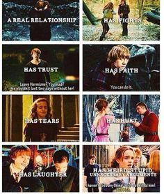 Ron and Hermione !!!!!!<< guys i just realized something we don't have a ship name for them!!