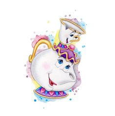 Beauty and the Beast Chip and Mrs Potts Drawing Print Disney Castle Drawing, Disney Drawings, Cartoon Drawings, Art Drawings, Drawing Faces, Beauty And The Beast Drawing, Disney Beauty And The Beast, Beauty Beast, Cartoon Wallpaper Iphone