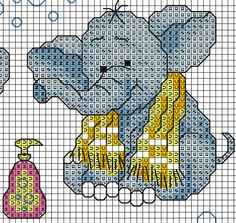 patrón de elefante para baño 2