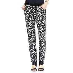 Market Watch: Dalmatian Prints // Vince Camuto slim-leg animal-print pants