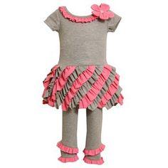 Bonnie Jean Ruched Dress & Leggings Set - Baby