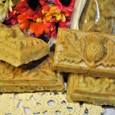 G-oat and Gold - natural handmade cold process soap.  Goat milk, colloidal gold, oatmeal.