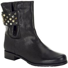 Pre-owned Stuart Weitzman Studsmart Black Boots (3,030 MXN) ❤ liked on Polyvore