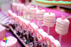 Marshmallow pops at a Valentine's party! See more party ideas at CatchMyParty.com!  #partyideas #valentines