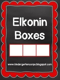 Elkonin Boxes: Segmenting Pages - FREE - Great for phonemic awareness and phoneme segmentation fluency on DIBELS.
