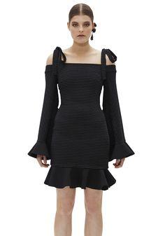 ILONA BELL SLEEVE TIE TOP MINI DRESS |