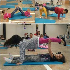Partner yoga poses that can easily be done in the classroom Physical Education Activities, Elementary Physical Education, Elementary Pe, Pe Activities, Health And Physical Education, Partner Yoga, Yoga For Kids, Exercise For Kids, Pe Lessons