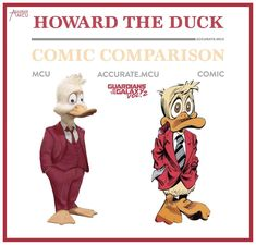 "1,063 Likes, 16 Comments - • Accurate.MCU • mcu fanpage (@accurate.mcu) on Instagram: ""• HOWARD THE DUCK - COMIC COMPARISON • Since a lot of people requested this character numerous…"""