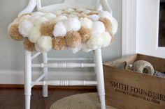 Pom Pom Chair DIY - The Sewing Rabbit