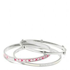 Coach bracelet- just saw this at the coach outlet. Gift to myself.