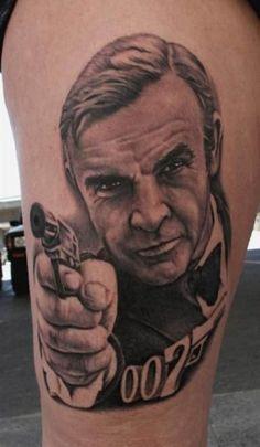 Bob Tyrrell captured Bond right before he used his license to kill. #inked #tattoo #bob #tyrrell #james #bond #007
