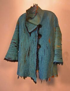 MAGGY PAVLOU: Jacket: 'Koi Pond'  $550.00  Felted wool and silk jacket