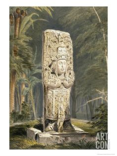 Idol at Copan Giclee Print by Frederick Catherwood at Art.com