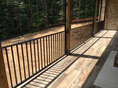 Rails on the back porch