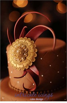 Reminds me of  the festival of Rakhi. An apt cake for the festival. The chocolate embelishment is gorgeous.