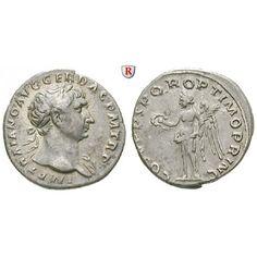Römische Kaiserzeit, Traianus, Denar 107-108, ss-vz: Traianus 98-117. Denar 18 mm 107-108 Rom. Kopf r. mit Lorbeerkranz IMP TRAIANO… #coins