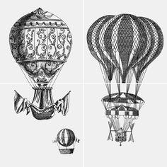 Ceramiche artistiche e piastrelle ceramica Design Piero Fornasetti Macchine volanti 2
