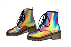 Chromatic Colorful Footwear - The Hyper Color Combat Boot by James Rowland is Bright, Bold & Badass