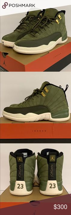 a3dd13e812e Chris Paul air Jordan 12 retro shoes green size 8 Olive green. Light dirt on