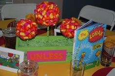 Dr. Seuss Baby Shower: Lorax Topiary