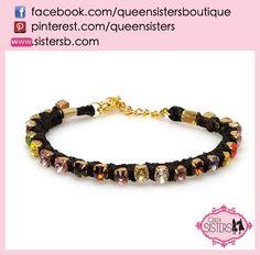 #bracelet #colorful #crystal #black