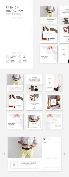 Fashion Instagram – White Edition - Social Media Web Elements