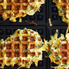 Throwing your latkes in your waffle iron is going to quickly become your favorite way to eat shredded potatoes.  Get the recipe from Recipe Fiction. Related: 16 Show Stopping New Ideas for Latkes   - Delish.com