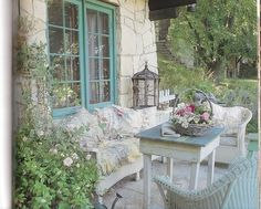 french country fashions | birdcage, blue, chintz, country chic, flowers, french blue - image ...