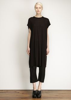 Rick Owens Leather Cropped Pant (Black)
