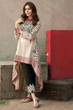 Pakistani casual summer outfit.