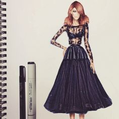 #fashionillustration by Leeann Visser