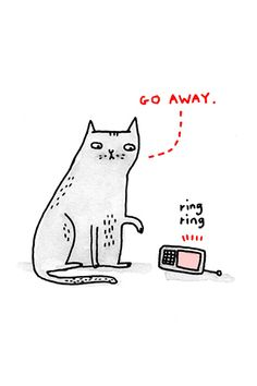 Bsmiley:  WANT!!!  /       Go Away, by Gemma Correll