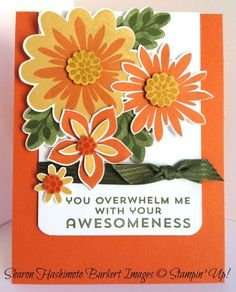 Just love the layout of this card! The rounded corners on the bottom of the white piece really add a lot.
