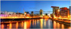 Der Medienhafen Düsseldorf als HDR Panorama Foto.  http://www.düsseldorf-panorama.de
